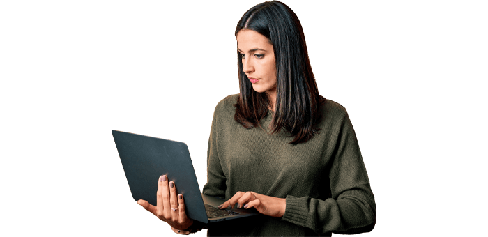 Employee with laptop